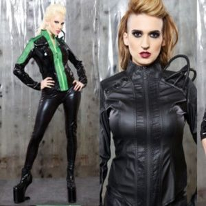 Quarantine Nanohazard Jacket Cyber Fetish Goth
